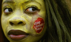 Climate Protester in Dublin in Lead-up to COP18. The Guardian.