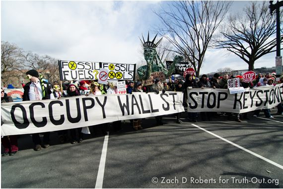 Occupy contingent at Forward on Climate.